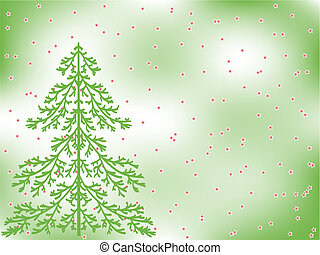 fir-tree - christmas background. vector