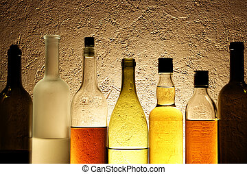 Bottles of alcohol