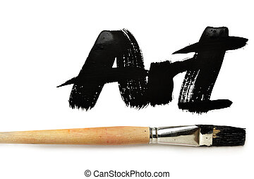Art - Brush and word Art isolated over the white background...