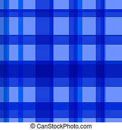 Seamless blue checked pattern - Vector illustration of...