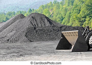 Stockpile of Coal with Endloader