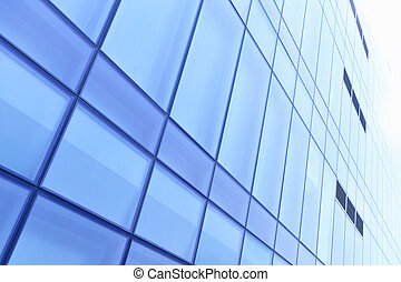 Architectural background - Windows of modern building toned...