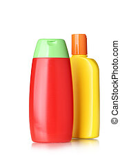 Bottles with hygienic products