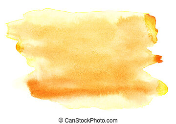 Yellow watercolor brush strokes, may be used as background