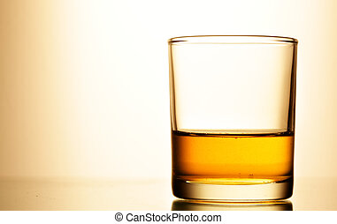 Glass of whisky - Glass of pure whisky close up