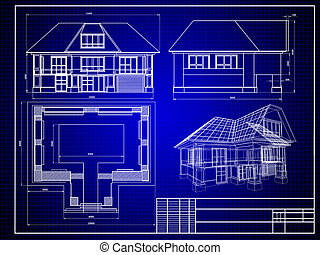 Blueprint - Close-up of house blueprint