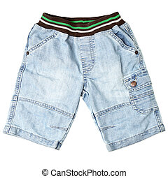 Jeans shorts - Children's wear - jeans shorts isolated over...