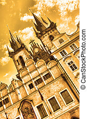 Church of Virgin Maria Before Tyn, Prague, Czech republic