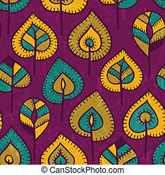 Seamless pattern with stylized leaves. EPS 10 vector...