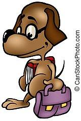 Dog schoolboy