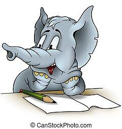 Elephant writing