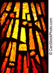 Stained glass - Multicolored stained glass, may be used as...