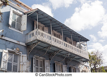 Old house in Charlotte Amalie St Thomas - Old delapidated...