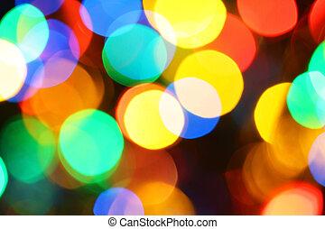Colorful holiday illumination