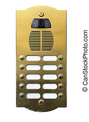 Intercom with camera isolated over the white background