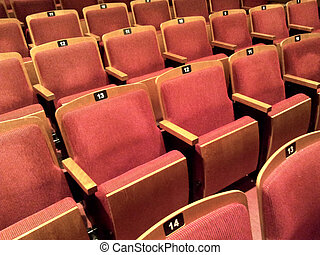 Old Theater Seats - A few rows of empty theater seats