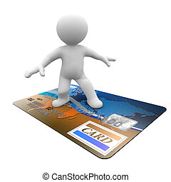 credit card flying with you - a man that flying with credit...