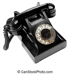 Old phone - Vintage phone isolated over the white background...