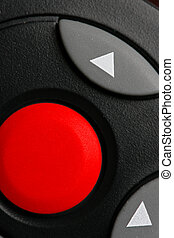 Red button - Big red blank button close-up