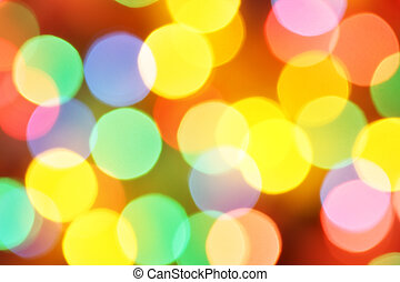 Defocused holiday lights