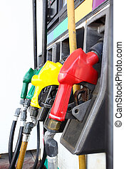 Gas - Colorful gas nozzles close-up Shallow DOF