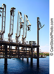 Oil terminal - Tanker terminal for oil products at sea coast