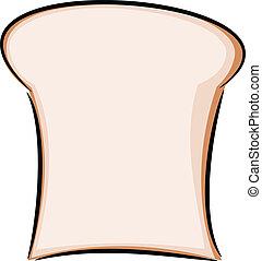 Bread slice illustration - Bread slice in the morning...