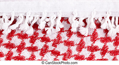 Arabian background - Arab keffiyeh close-up, may be used as...