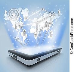 comunicação, tecnologia, móvel,...