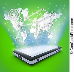 comunicação, tecnologia, móvel, telefone