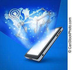 móvel, comunicação, tecnologia, telefone
