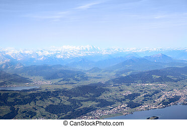Swiss Alps - Aerial image of Swiss Alps