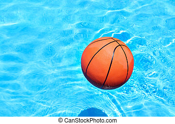 Ball at the swimming pool - Ball on the float at the...