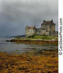 Castle in Scotland - Eileen Donan Castle in Scotland in the...