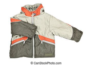 Winter jacket - Childrens wear - winter jacket isolated over...