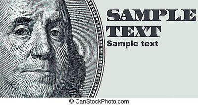 Franklin portrait - Benjamin Franklin portrait with space...