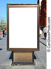 Blank advertisement hoarding, put your own text or image...