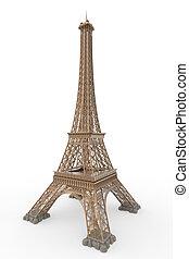 Eiffel, wieża, odizolowany