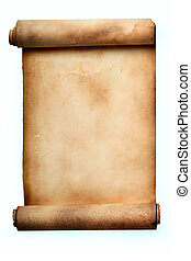 Scroll - Ancient scroll isolated over a white background