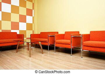 Interior - Moderm interior of a waiting room