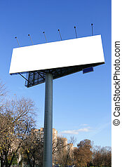 Street advertising - Single blank billboards on a street...