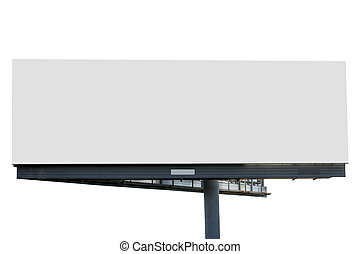 Blank billboard isolated over white background