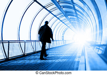 After life - Man going in tunnel towards to Light