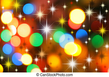 Colorful christmas background - Colorful christmas lights...