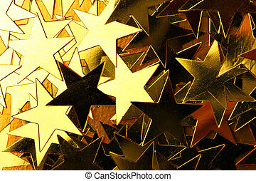 Gold stars, may be used as background