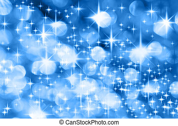Milky Way - The Milky Way - Blue Christmas background with...