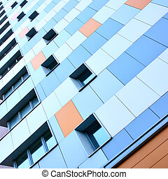 Apartment building - Wall of modern apartment building...