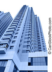 Apartment buildings - Modern apartment buildings toned in...