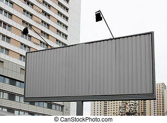 New billboard on street - Blank new billboard on street and...