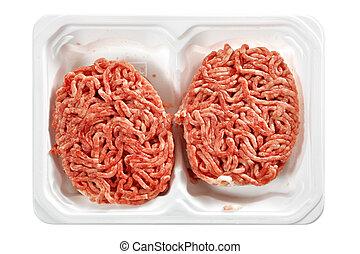 crudo, carne, Croquetas